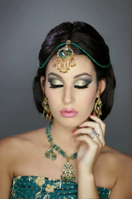 Indian Pakistani Bridal Makeup And Hair - Pakistani U0026 Indian Dress Mehndi Design Makeup Hair ...