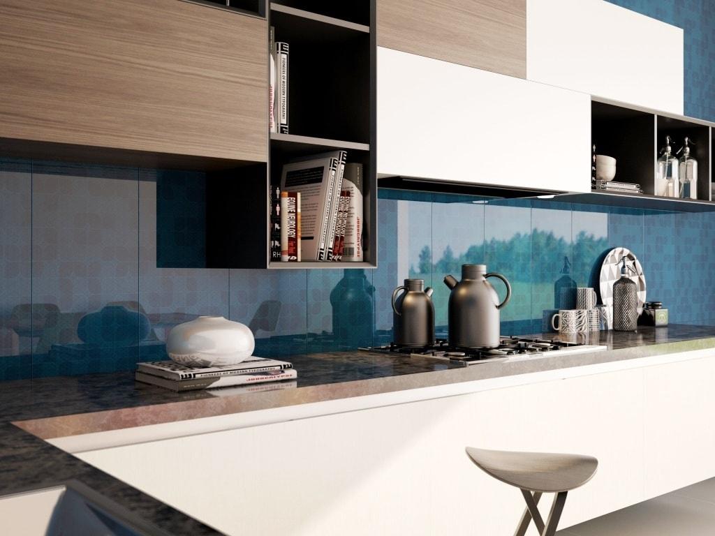 Ideas de revestimientos para las paredes de la cocina cocinas con estilo - Materiales para forrar paredes interiores ...