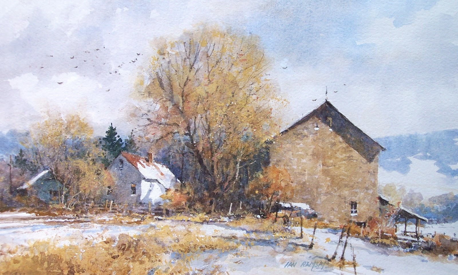 Ian Ramsay Watercolors: December 2012