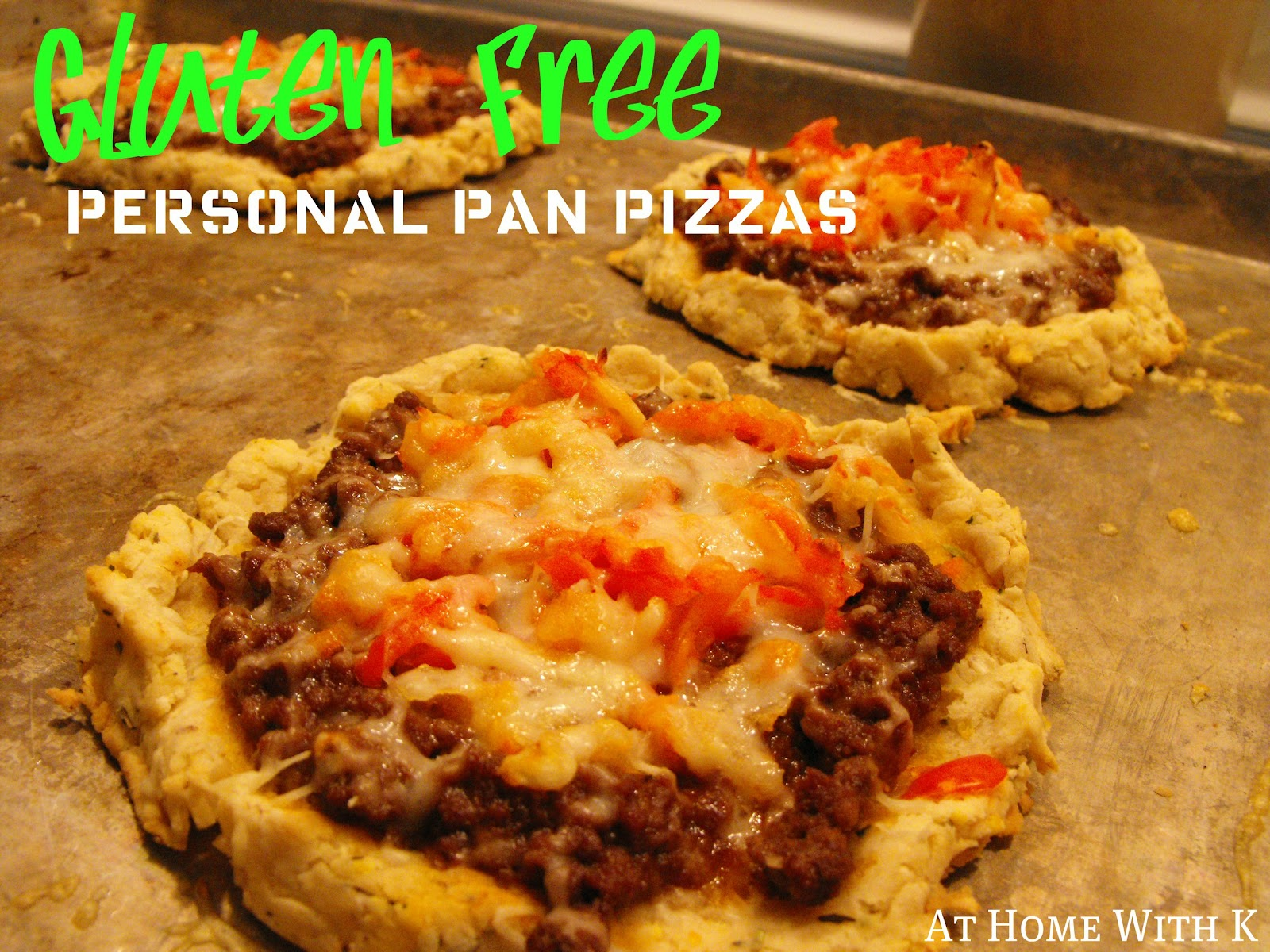 At Home With K: Gluten Free Personal Pan Pizzas