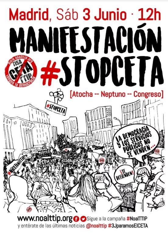 3 de junio No al CETA