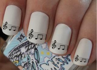 Music Notation Nail Art Designs