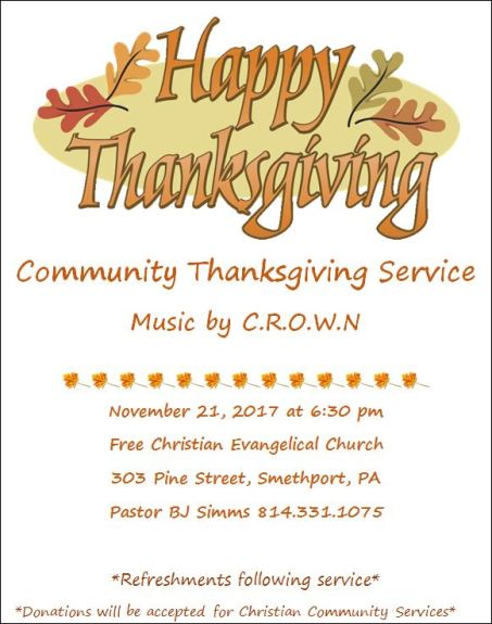 11-21 Community Thanksgiving Service