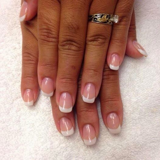 French white acrylic nails