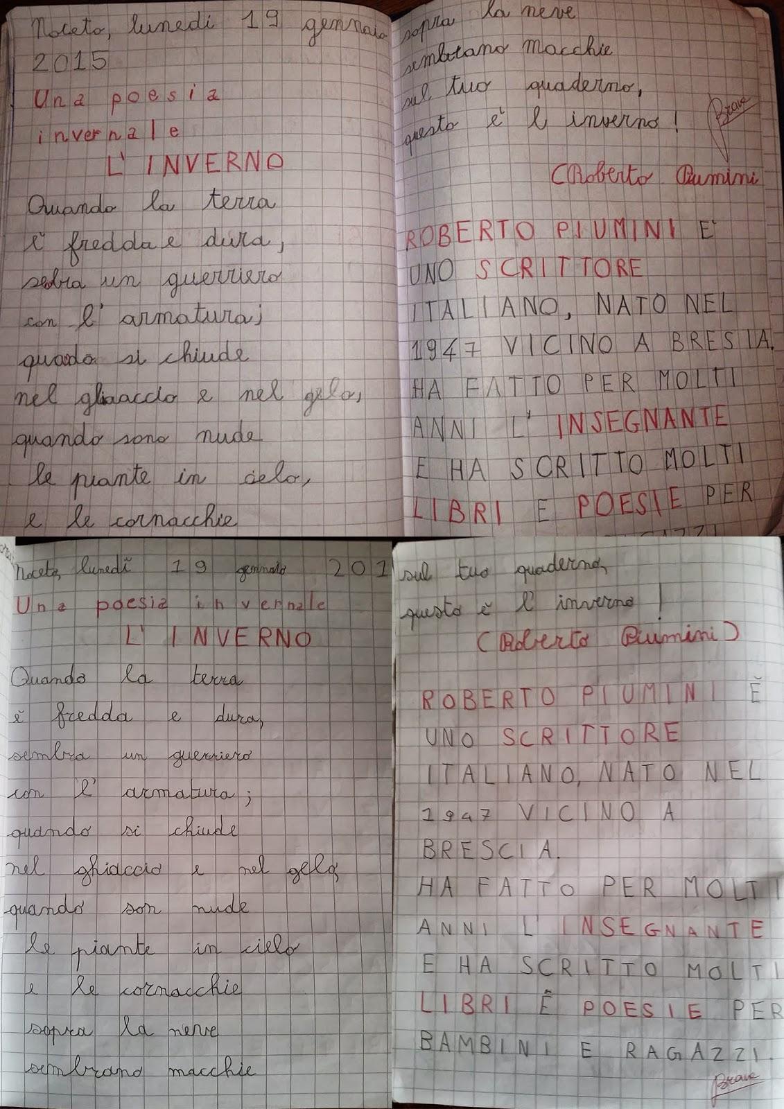 Eccezionale in classe quarta E: L'inverno - Roberto Piumini PQ52