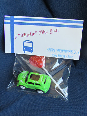 hot wheels valentine, preschool valentine, boy valentines