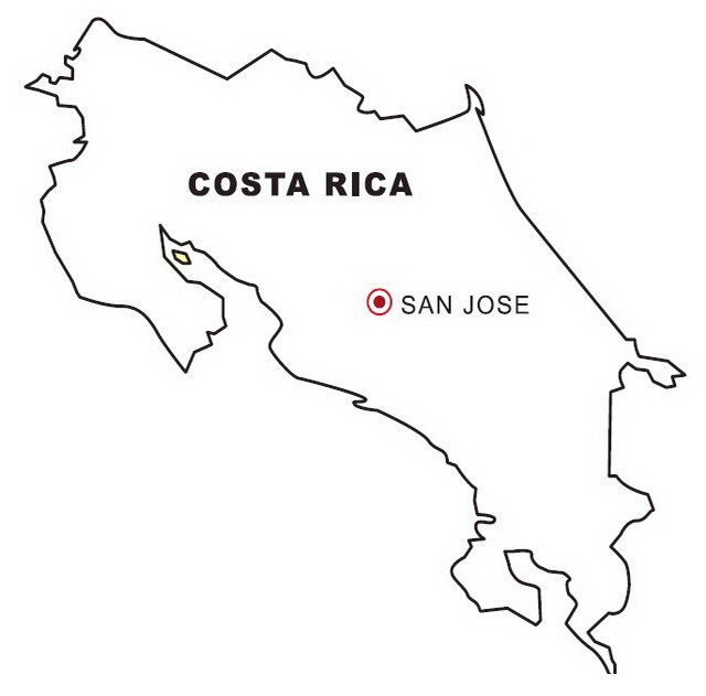 costa rica flag coloring pages - photo#27