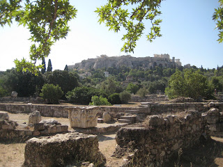 The view of the Acropolis from the Ancient Agora, the Greeks main forum.