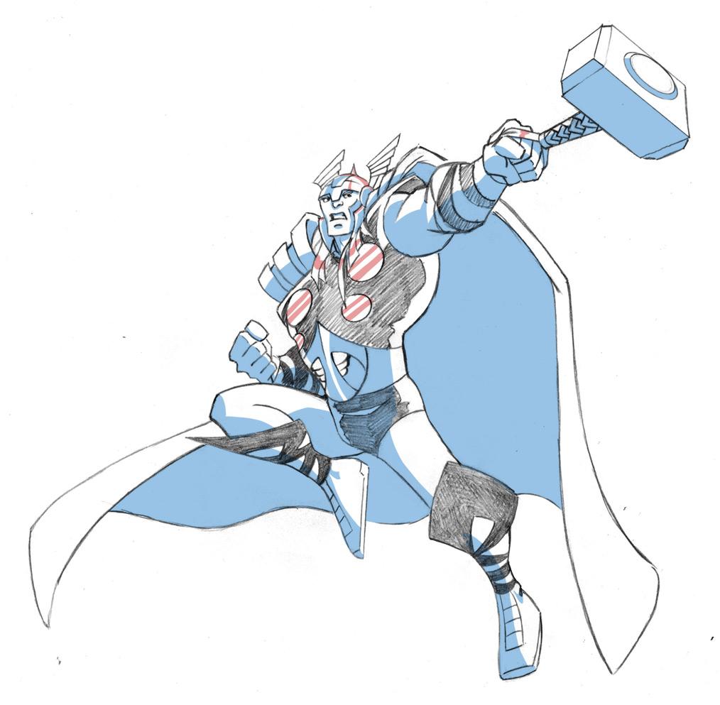 COLOREA TUS DIBUJOS: Thor para colorear