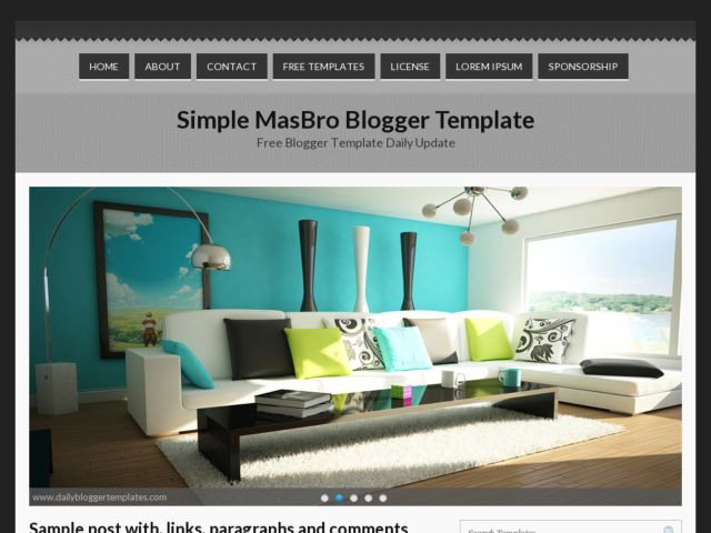 Simple MasBro Blogger Template