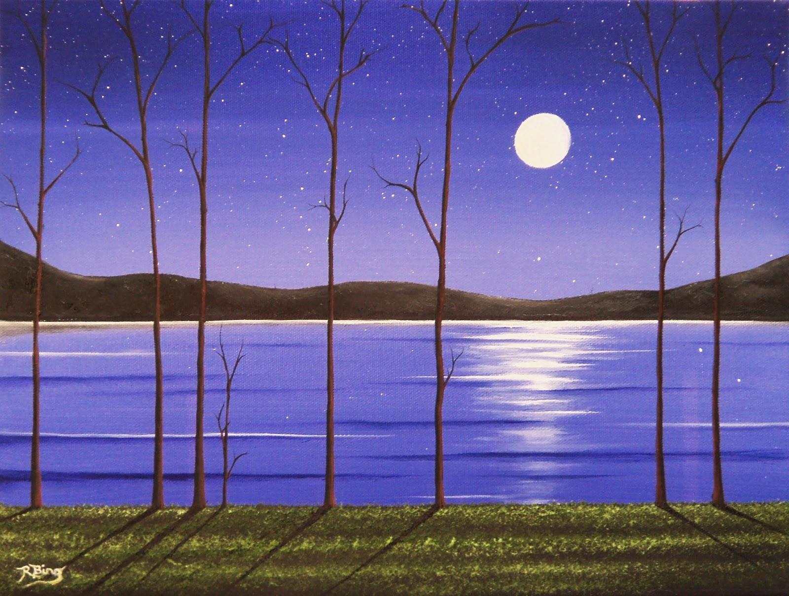 easy night scene paintings - photo #10
