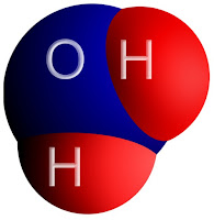 Picture of water molecule