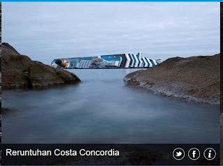 inovLy media : reruntuhan Costa Concordia