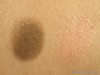 Oriflame the ONE Color Impact Cream Eye Shadow: Rose Gold and Golden Brown swatches