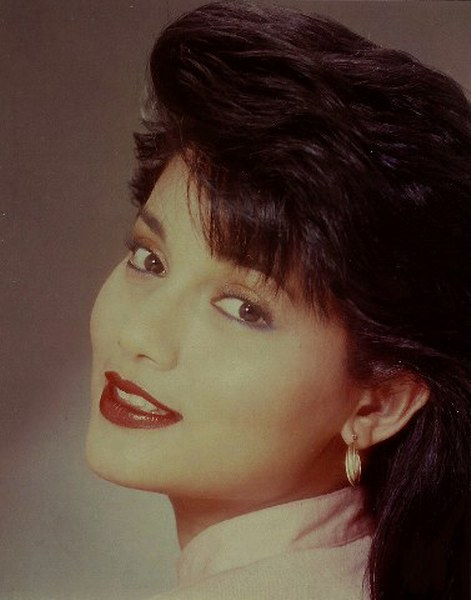 "CU, Marissa Haque, 1987 Best Actress FFAP 62th,  Taipei Taiwan in film titled ""Matahari-matahari"""