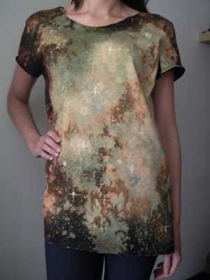 galaxy-black milk-kosmos-diy-koszulka-blog