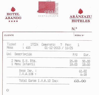 Restaurante-Epaia-Hotel-Abando-Bilbao-Factura