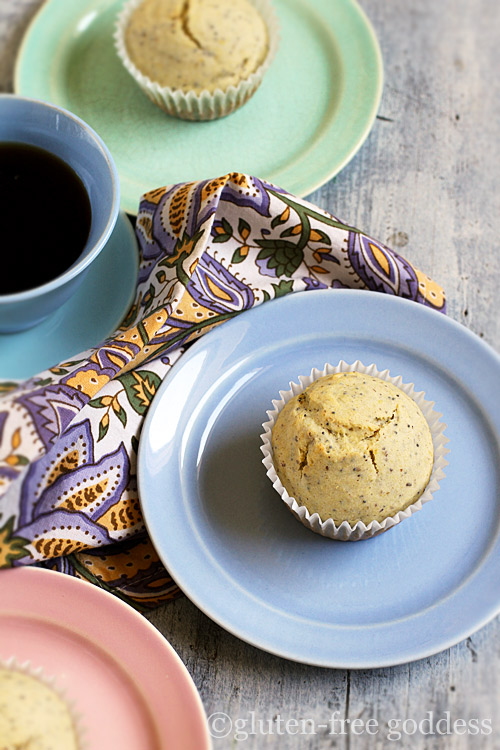 Karina's gluten-free multigrain lemon poppy seed muffins.