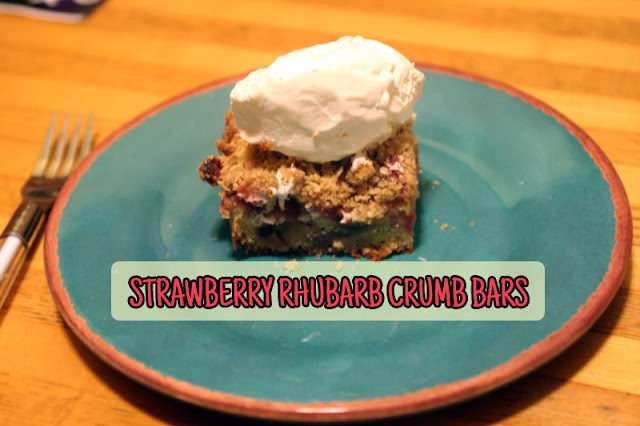 Strawberry Rhubarb Crumb Bars | hardparade.blogspot.com