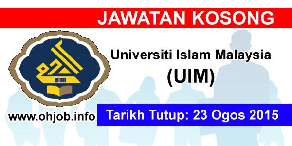 Jawatan Kerja Kosong Universiti Islam Malaysia (UIM) logo www.ohjob.info ogos 2015