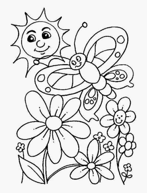 free spring coloring pages  free coloring sheet, printable coloring