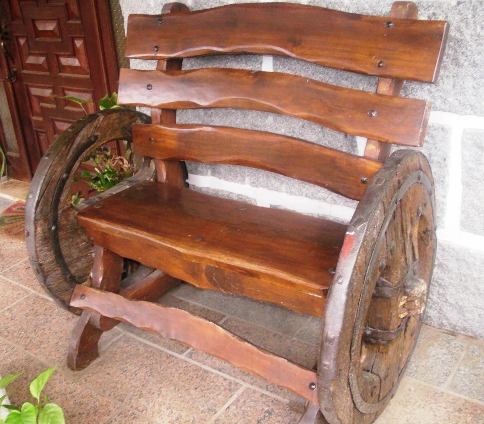 Banco com rodas carro de bois #789A31 1600x1402
