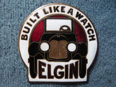Elgin radiator emblem badge