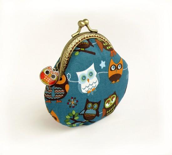 Кошелек с совами, owls purse