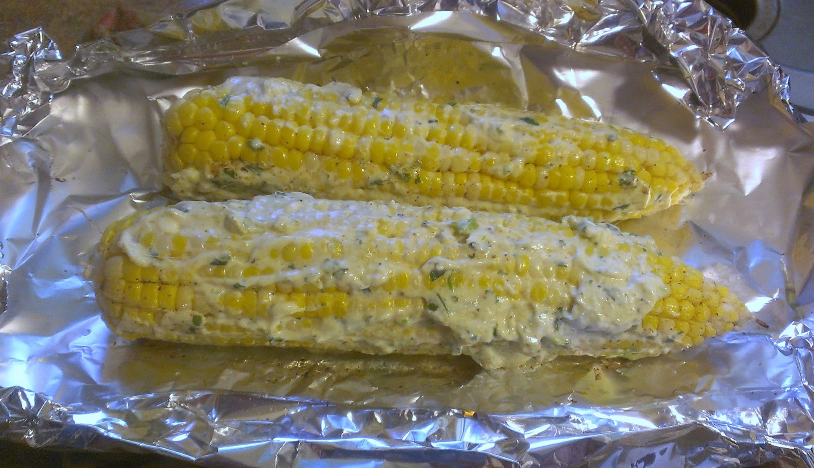 This Vintage Grove: Cilantro Lime Roasted Corn