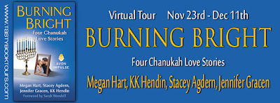 INTERVIEW,GIVEAWAY, BURNING BRIGHT, Megan Hart, Jennifer Gracen, KK Hendin, Stacey Agdern