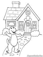 Mewarnai Gambar Rumah Barney