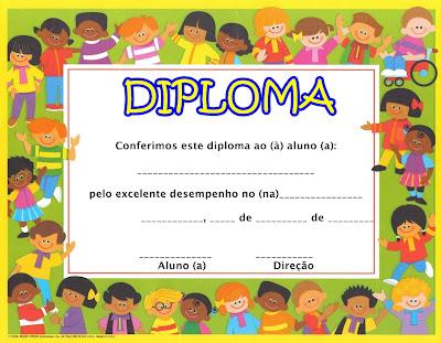 Modelos De Diploma Para A Educa    O Infantil