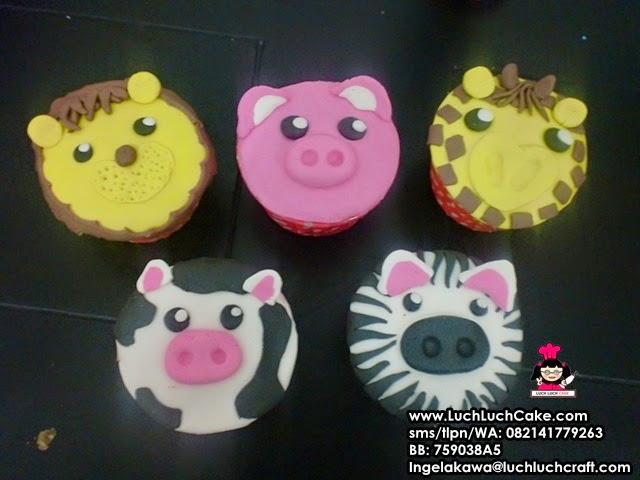 Cupcake Binatang Souvernir Ulang Tahun Daerah Surabaya - Sidoarjo