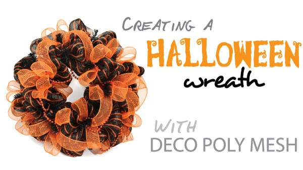 halloween wreath with deco mesh a video tutorial