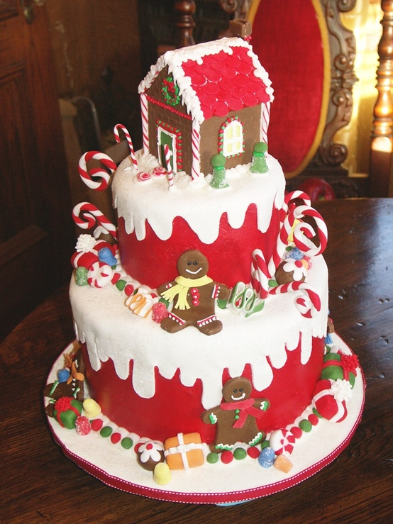 Images For Christmas Cake Decorations : Beautiful Christmas Cake Decoration : Let s Celebrate!