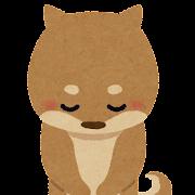 お辞儀をしている犬のイラスト