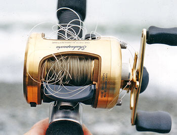 Scott hopper 39 s blog reduce line twists in a fishing reel for Open face fishing reel
