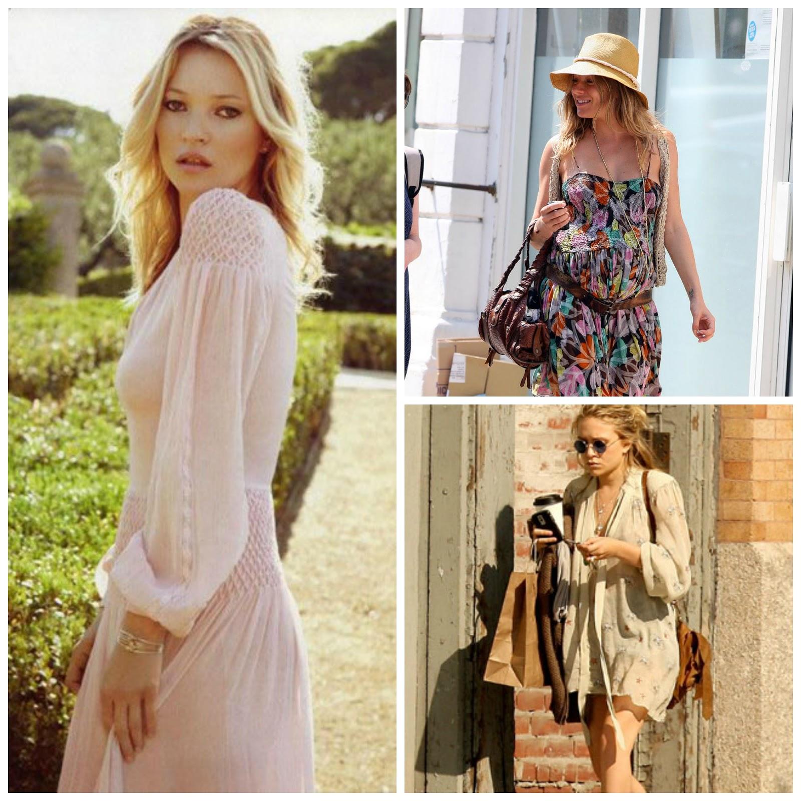 Sienna Miller, Mary-Kate Olsen, Kate Moss, boho chic