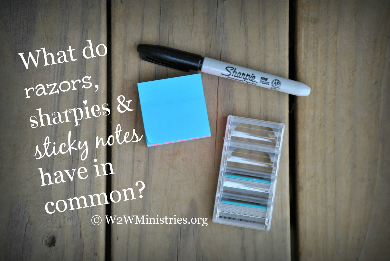 What do razors, sharpies and sticky notes have in common?   #marriage #womansministry
