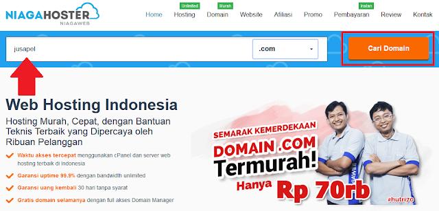 Membeli Domain .Com Murah di Niagahoster