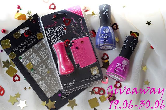 Giveaway пластины для стемпинга, штампа Konad и лаков Pink Up у меня в блоге! 16.06-30.06 - See mor