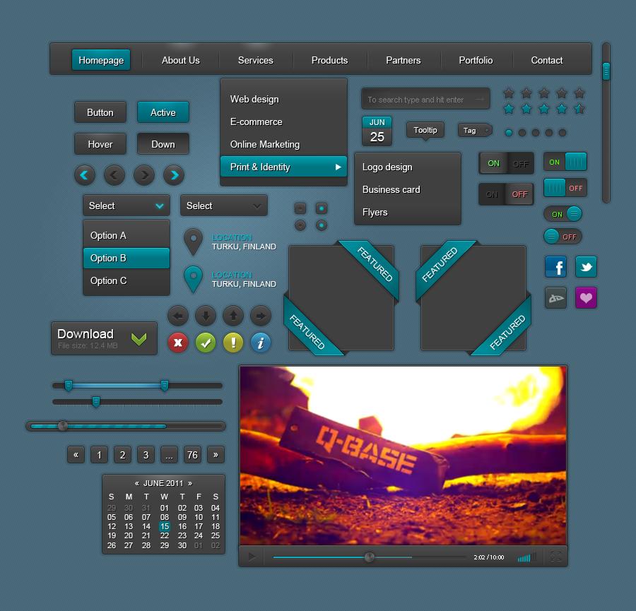 UI elements by yaruno