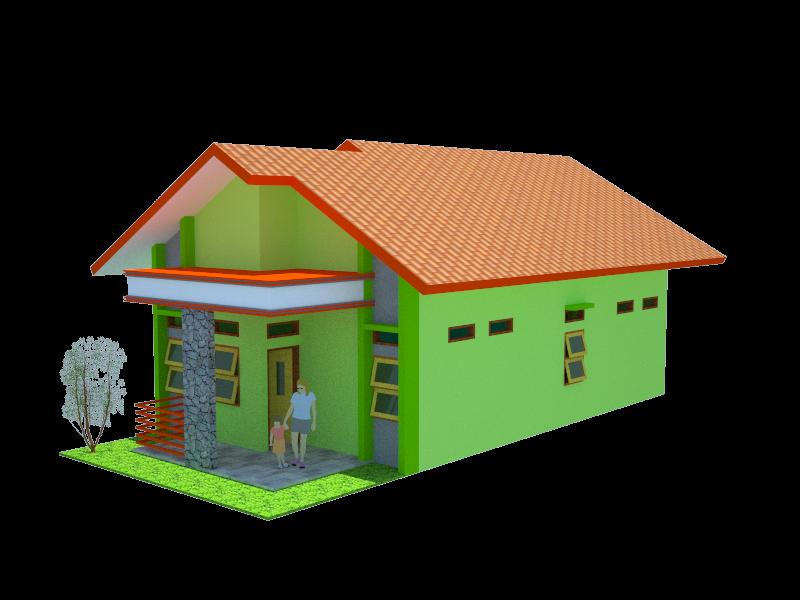 Desain Rumah 8 X 15 Meter