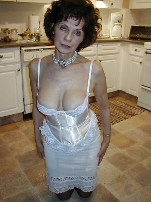 aged granny in sexy dress