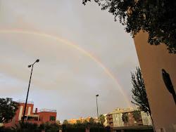 Arco Iris sobre el Barrio Niloga