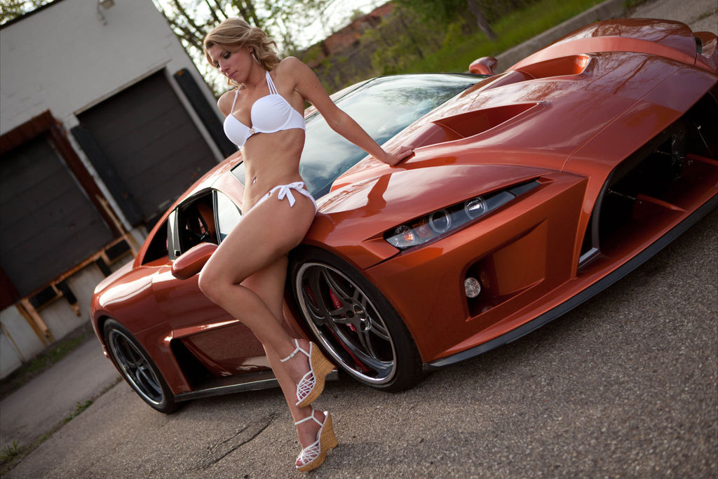 girls and tuner car - photo #23