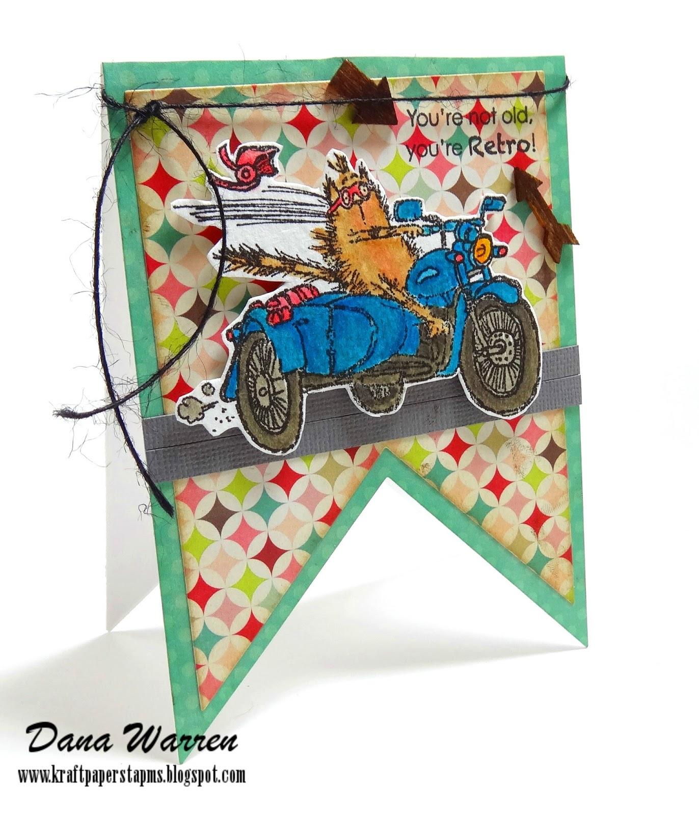 Dana Warren - Kraft Paper Stamps - Penny Black