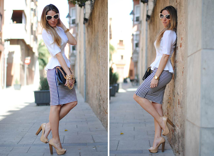Pencil skirt H&M Trend by the blogger Mónica Sors
