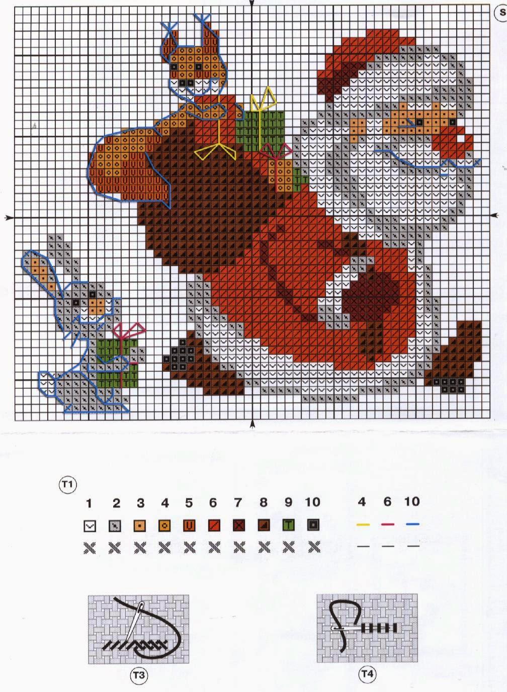 Вышивка крестом картин с изображением Деда Мороза 55