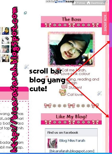 Tutorial 115 : Mencantikkan Scroll Bar Blog. - Blog Cik